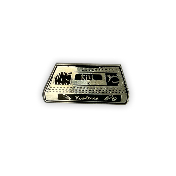 Violence VHS Tape Enamel Pin (NEW!)