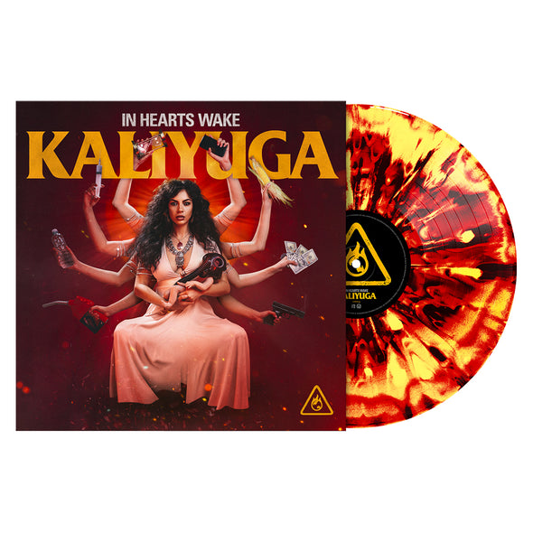 "Kaliyuga 12"" Vinyl (FLAME - Red, Yellow & Black Marble)"
