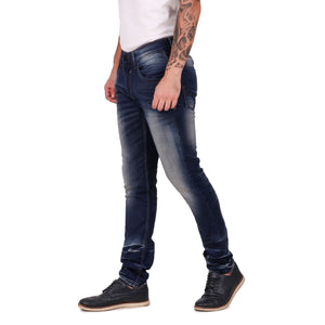 Pistole Heavy Faded Blue Slim Fit Mid-Rise Stretchable Jeans