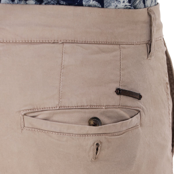 Salos Dark Khaki Slim Fit Stretchable Chinos