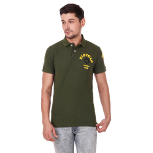 Pistole Boxing Club Green Polo Tshirt