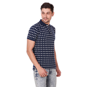 Pistole Overall Printed Blue Polo Tshirt