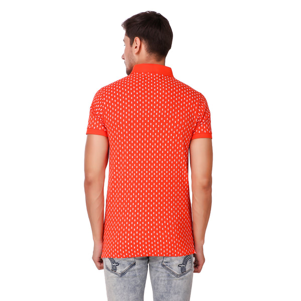 Pistole Overall Printed Red Polo Tshirt