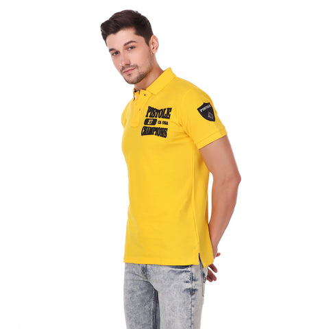 Pistole State Champs Yellow Polo Tshirt