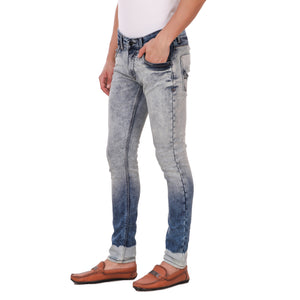 Pistole Blue Double Faded Slim Fit Mid-Rise Stretchable Jeans