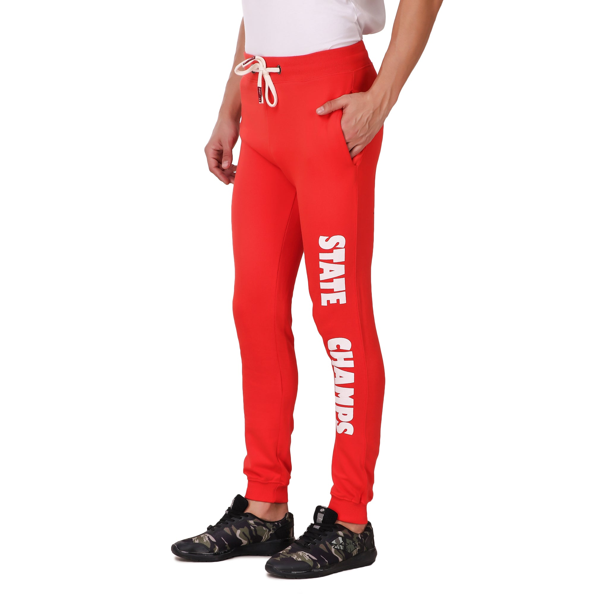 Pistole State Champs Red Cotton Jogger Sweatpants