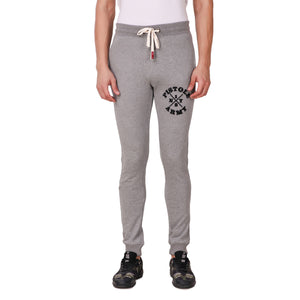 Pistole Army Grey Melange Cotton Jogger Sweatpants
