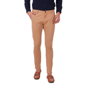 Salos Beige Slim Fit Stretchable Chinos
