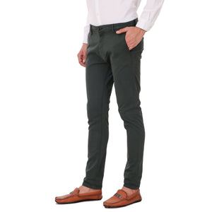 Salos Green Slim Fit Stretchable Chinos