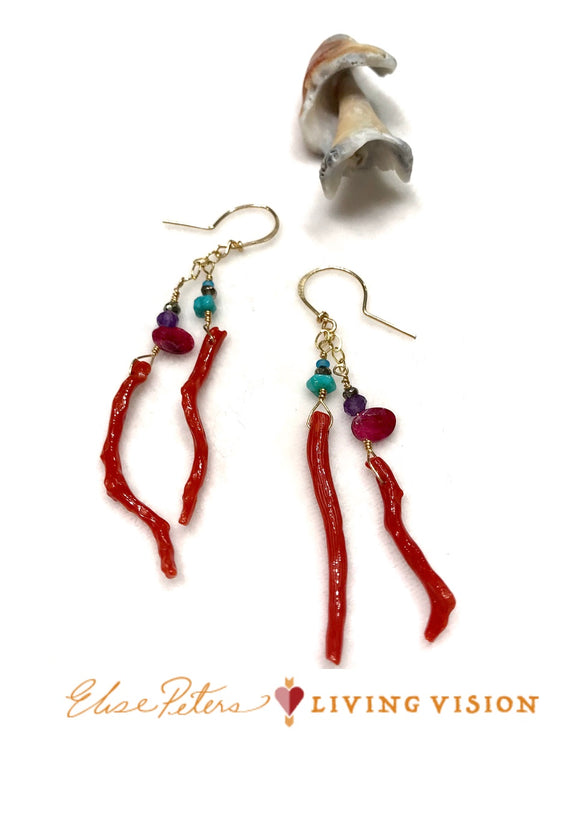 Coral Garden Earrings