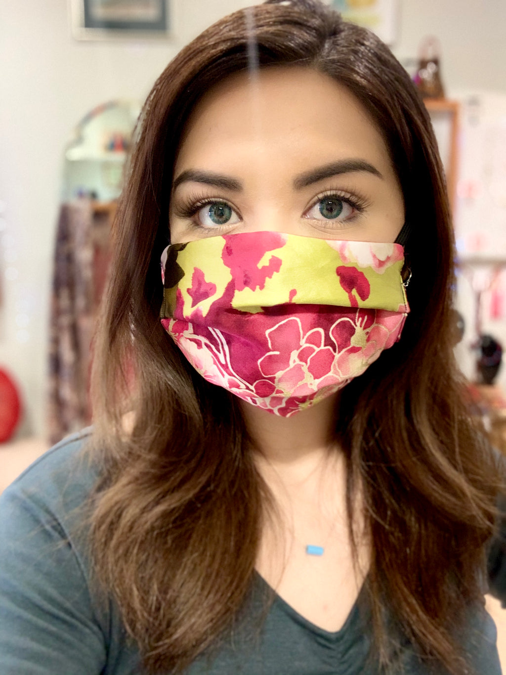silk face mask, Face Mask - Asian Blossom