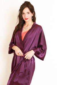 Silk charmeuse Robe