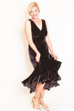 Ruffle Dress Velvet