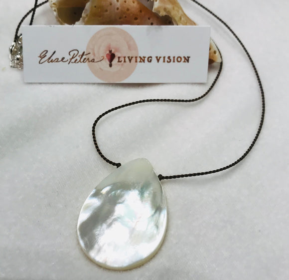 Mother Of Pearl Drop - Necklace