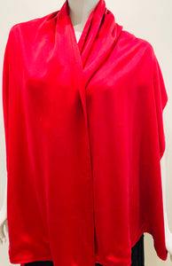 Double Silk Charmeuse In Red