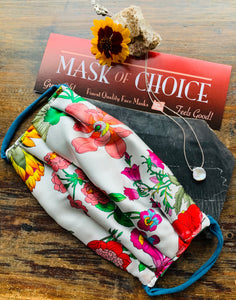 Face Mask - White Garden *Multiple Options*