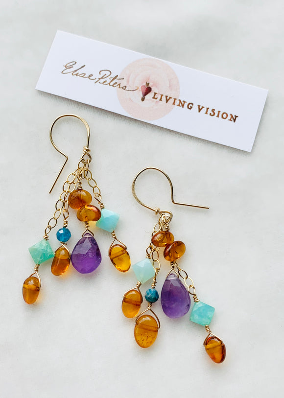 Ocean Sunset Earrings