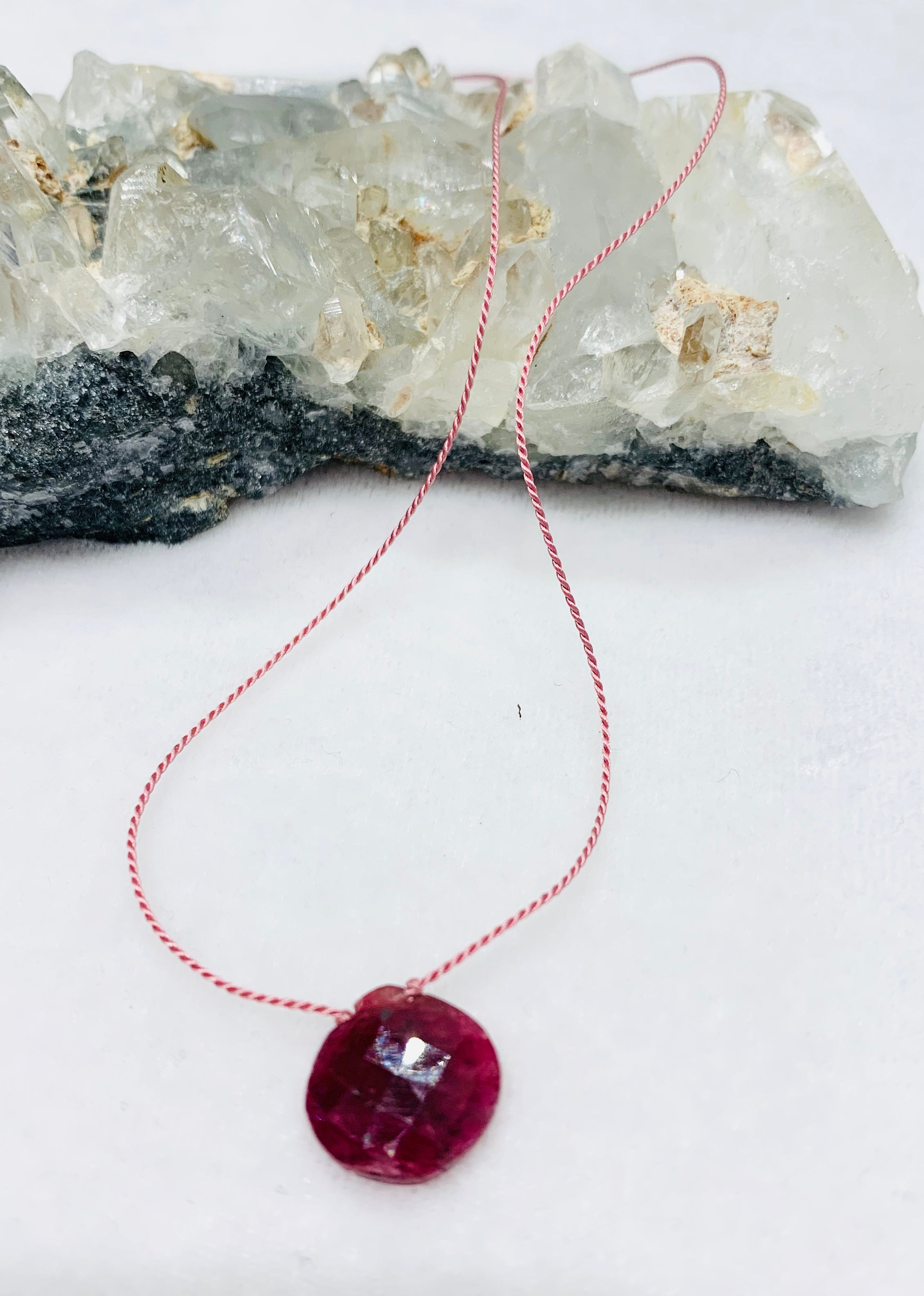 Ruby Single-Drop Necklace