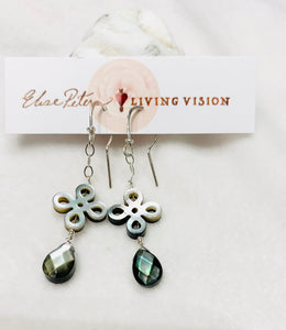 Carved Gray Mother of Pearl Earrings *Multiple Options*