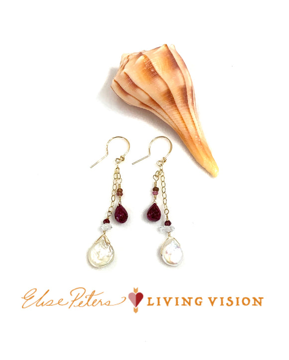 Ruby Renaissance Earrings