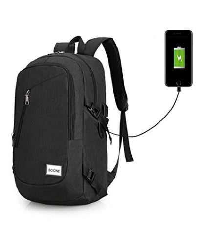 950901dbd902 Computer Laptop USB Charging Backpack School Bag Pack Adult Student Bag  Business Backpack Male Unisex Waterproof