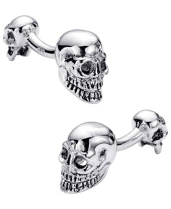 Sutton Sterling Silver Double Sided Skull Cufflinks