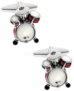 Sutton Silver-Tone Drum Set Cufflinks