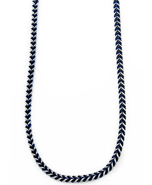 Sutton Stainless Steel Blue-Tone Chain Necklace
