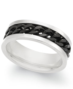 Men's Two-Tone Chain Ring