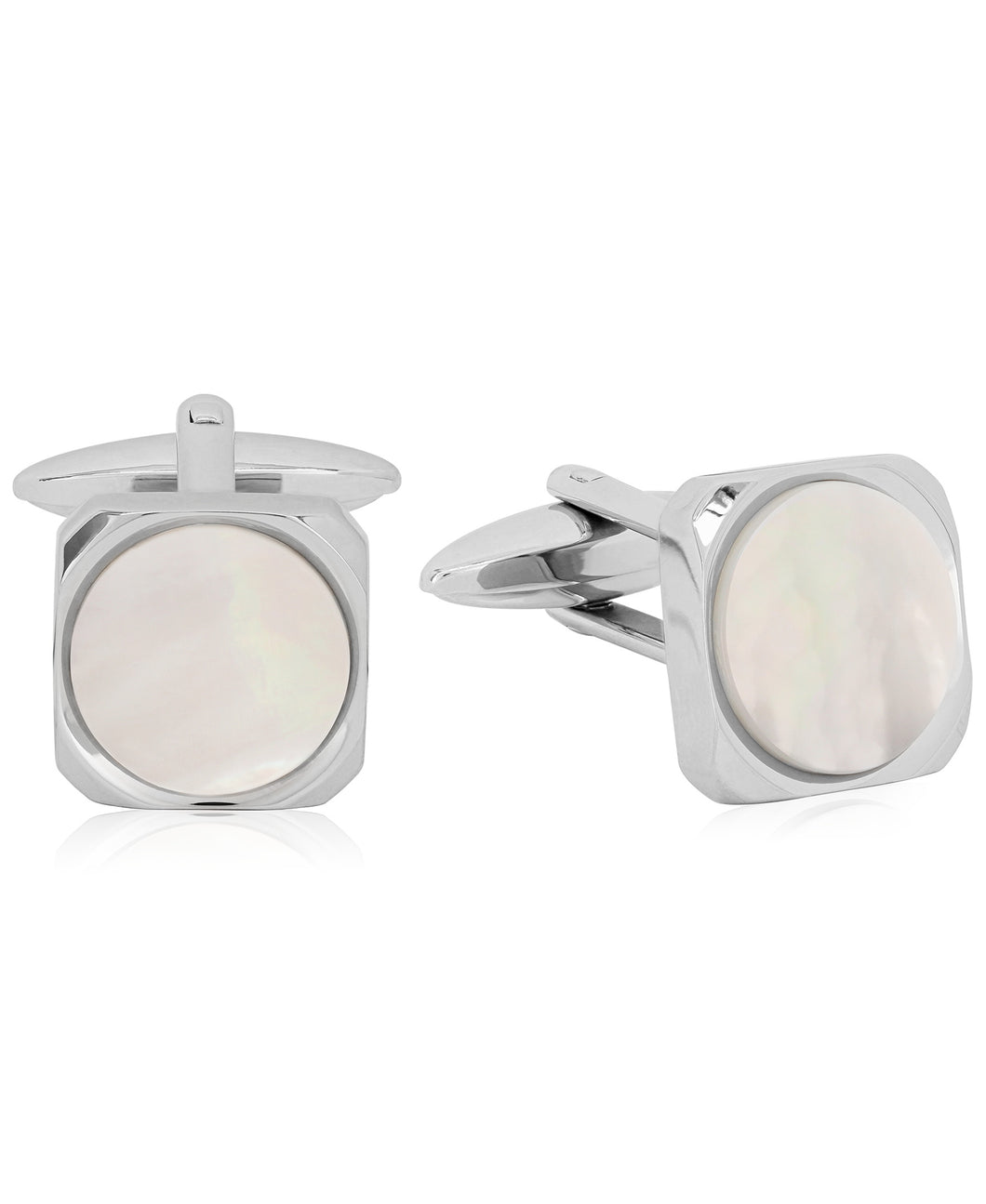 Sutton Stainless Steel and Stone Cufflinks