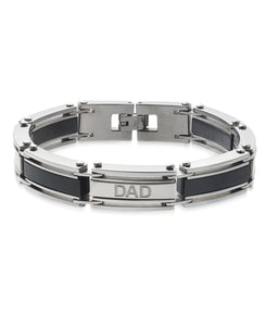 Men's RS BLK Liner Stainless Steel Bracelet