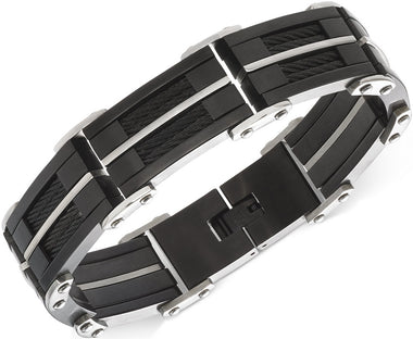 Men's Stainless Steel Chunky Link Bracelet