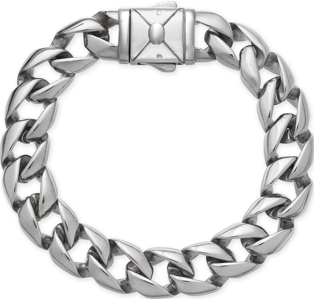 Men's Stainless Steel Heavy Link Chain Bracelet