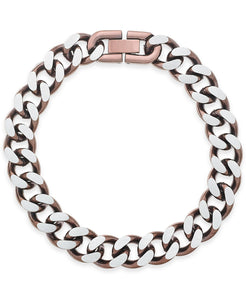 Men's Copper IP-Plated Stainless Steel Chain Bracelet