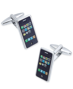 Sutton by Men's Stainless Steel Smart Phone Cuff Links