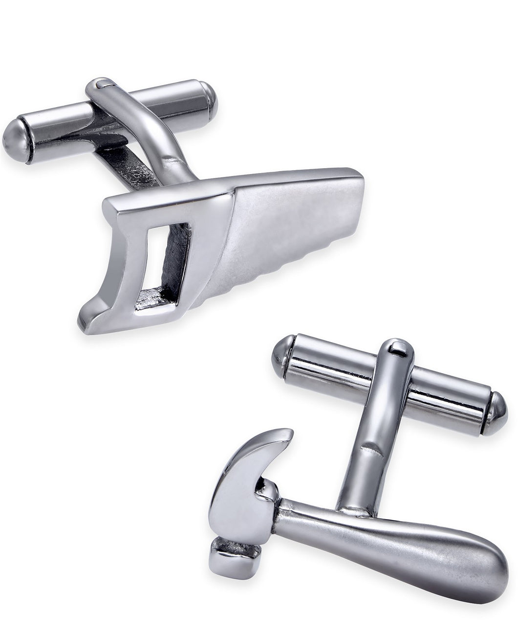Men's Stainless Steel Hammer and Saw Cuff Links