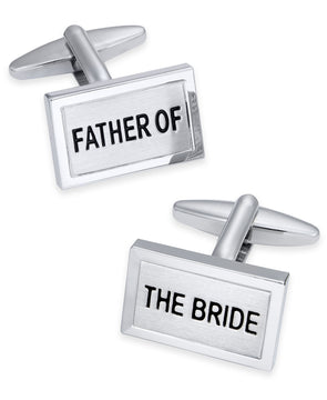 Men's Silver-Tone Father of the Bride Cuff Links