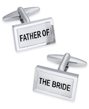 Sutton by Men's Silver-Tone Father of the Bride Cuff Links