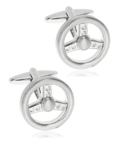 Sutton Silver-Tone Steering Wheel Cufflinks