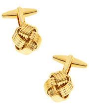 Load image into Gallery viewer, Sutton Gold-Tone Knot Cufflinks