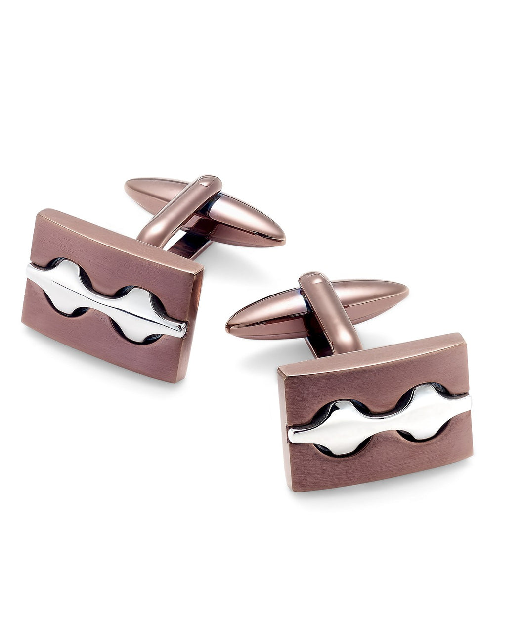 Men's Two-Tone Decorative Cuff Links