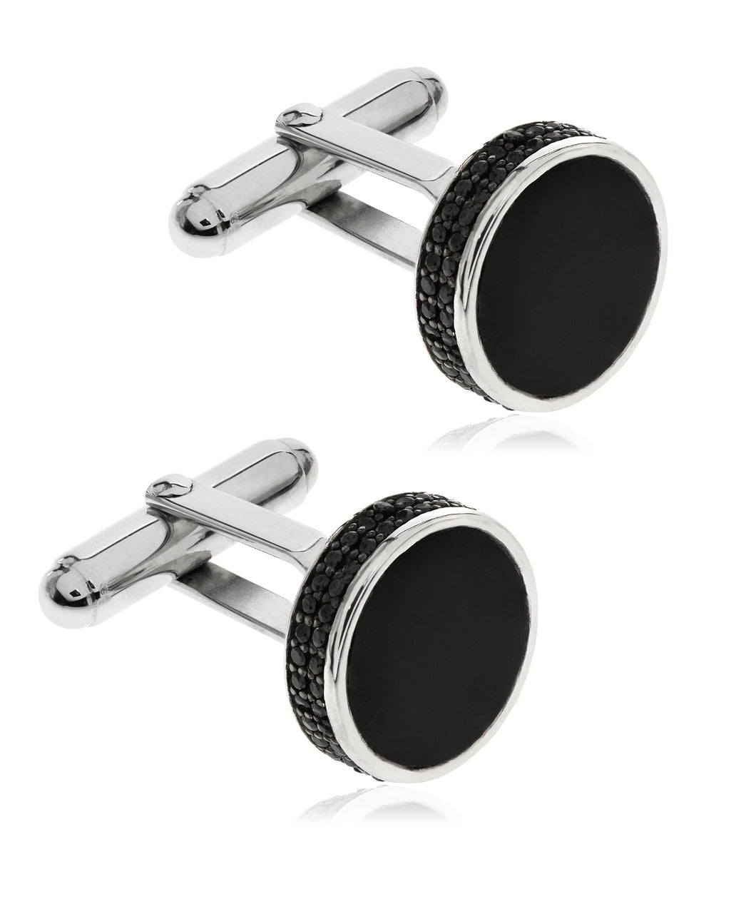 Sutton Sterling Silver Stone Cufflinks