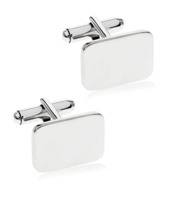Men's Square Face Sterling Silver Cufflinks