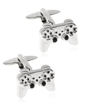Sutton by Men's Silver-Tone Game Controller Cufflinks