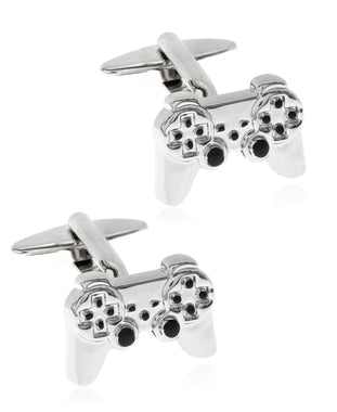 Men's Game Controller Silver-Tone Cufflinks