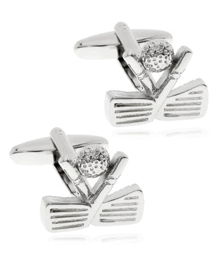 Sutton Silver-Tone Golf Club Cufflinks