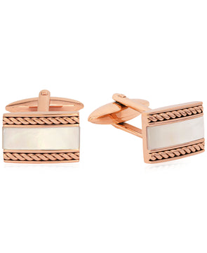 Sutton Stainless Steel Stone Inset Cufflinks