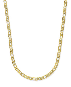 Men's Gold-Tone Figaro Chain Necklace