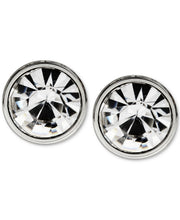 Load image into Gallery viewer, Men's Stainless Steel Round Stone Stud Earrings