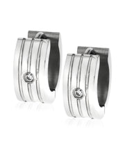 Load image into Gallery viewer, Sutton Men's Stainless Steel Huggie Earring Set